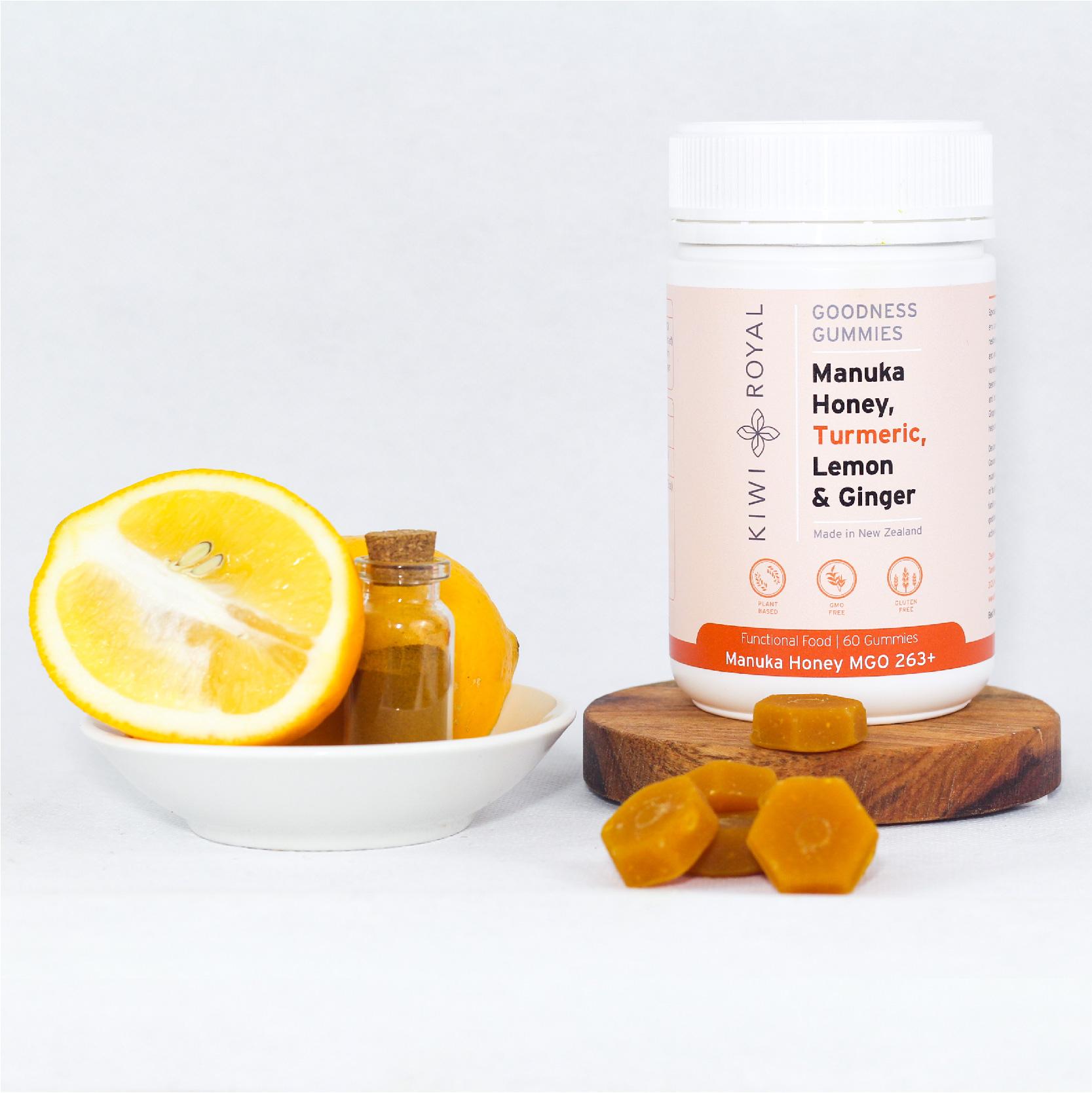 Manuka Honey, Turmeric, Ginger and Lemon